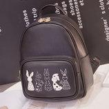 Рюкзак с зайчиками для модных девушек В Наличии