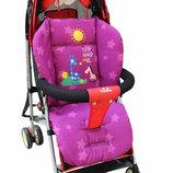 Матрас в коляску, автокресло, стульчик для кормления, санки,цвет сиреневый