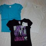 яркие футболки для девочки от C&A -Германия