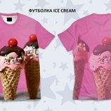Яркая 3d футболка Ice cream