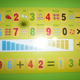деревянная рамка вкладыш математика