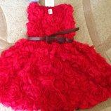 Платье 3-Д Роза