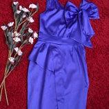 Мега крутое платье филетового цвета атласное Spotlight warehouse -S