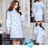 Принтованное платье рубашка