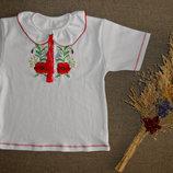 футболочка-вышиванка для девочки