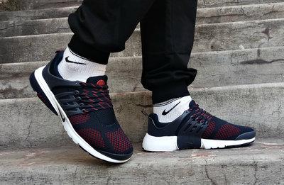 Кроссовки Nike Presto navy/red летние синие с красным