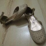 золотые туфельки, босоножки George 12р. 30размер