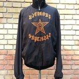 Мужская куртка Richmond Denim, оригинал, шелковая, черная с вышивкой.