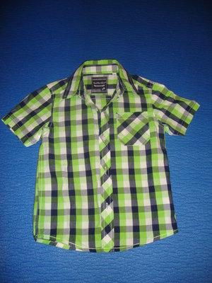 Рубашка Поломино - Германия. Рубашка с коротким рукавом в клетку.