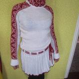 Платье теплое вязанное- вышыванка.