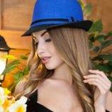 Соломенная шляпа-федора «Барбара», 5 цветов