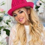 Соломенная шляпа-федора Берта , 4 цвета