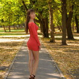 Короткое облегающее платье с длинными рукавами Terranova