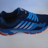 Мужские кроссовки копия adidas b06 44р,45р,46р. сетка синие