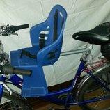 Велокресло. Универсальное, переднее/заднее, детское велосипедное сидение.
