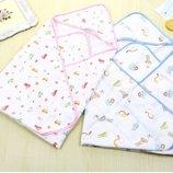 Полотенце для новорожденного, уголок для купания, четырех слойная марля