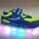 Светящиеся кроссовки 22-25 р. Jong Golf Джонг Голф, кросовки, кросівки, мигают, моргают, весенние