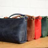 Женская сумка ручной работы из винтажной кожи K00007. Кожаный клатч. Сумочка