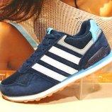 Кроссовки женские Adidas Neo синие 36р-41р