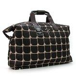 Сумка дорожная текстильная стеганая женская коричневая Chanel 5338