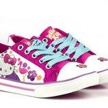 Очень красивые кеды серии Hello Kitty оригинал с подсветкой 25-32 р.р.