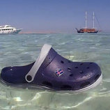 Акваобувь мужские сандалии клоги темно-синие Clogs в комплекте джибитсы - флаги