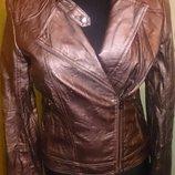 стильна рожева курточка еко шкіра М Terranova ід стан