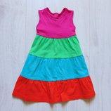 Яркое платье для девочки. Mothercare. Размер 9-12 месяцев. Состояние идеальное