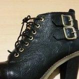 Ботинки ботильены кожаные Испания 38 р-р