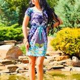 Яркая туника-платье 351