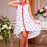 Яркое летнее платье 384