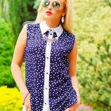 Классическая летняя блуза 419