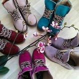Ботинки тимберленды черевики натуральная итальянская замша р.36-41