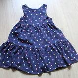 SALE Платье в горошек от H&M на 2-4 годика