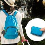 Складной рюкзак для путешествий синий . Рюкзак-Трансформер