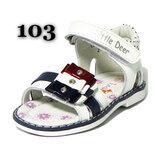 Кожаные босоножки, сандалии, шлепанцы B&G, кожаная стелька, супинатор, каблук Томаса, р.21-26