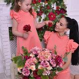 Family Look комплект 2 платья крылышки мама дочка цвета