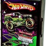 Hot Wheels контейнер кейс для джипов внедорожников в масштабе 1 64 Monster Jam Truck Case