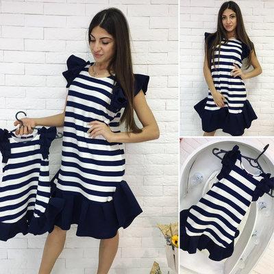 Family Look комплект 2 платья крылышки полоска мама дочка  750 грн ... bf7368dc441