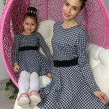 Family Look комплект 2 платья геометрия мама дочка