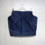 Юбка джинсовая р.46-48 короткая, Пот- 36 смотри замеры, распродажа, джинсовая, фасон тюльпан
