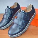 кожаные туфли на липучках