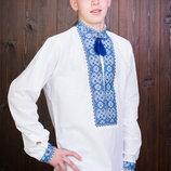 Красивая мужская вышиванка лен