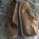 Новые замшевые летние ботинки на 36 р
