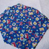 Трикотаж рубашка квадраты-сердечки на 2-4 г.