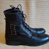 Высокие комбинированные ботинки Crafted denim brand. Англия. 45 р