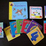 Развивающие карманные книги на английском цвета, цифры, погода, слова, алфавит