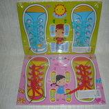 Деревянные игрушки рамка вкладыш шнуровка ботинок