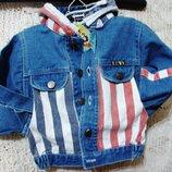 Куртка с капюшоном FIRST WIN-M новая джинсовая, котоновая