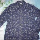 Классная рубашка под джинс с принтом в виде кружева, р.М-Л